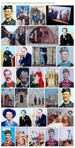 coco,peintre,facteur Cheval,Hauterives,Drôme,coco peintre du facteur Cheval,Palais Idéal,