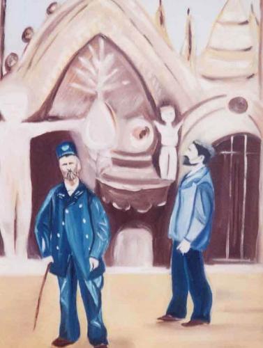 Les grigris de Sophie, Coco peintre du Facteur Cheval,Sopie Lepeit,Apoline Le petit ,Palais Idéal,Hauterives;,Drôme